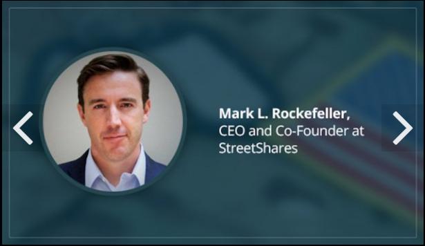 Mark L. Rockefeller, CEO of StreetShares, recognized as a Top 20 Military Veteran Tech Entrepreneur