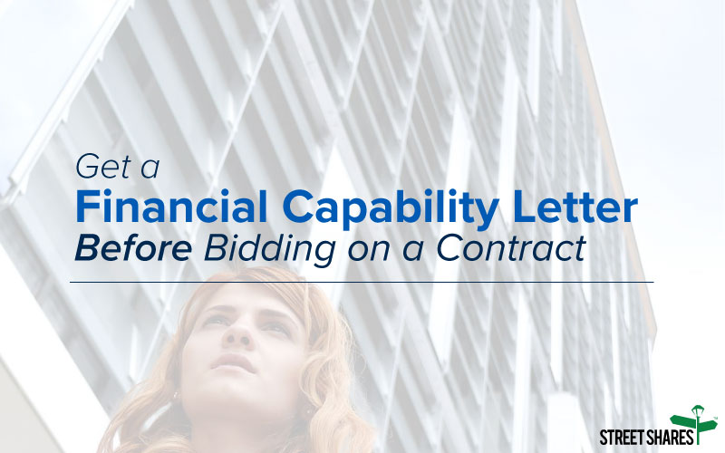 Get a Financial Capability Letter Before Bidding on a Government Contract