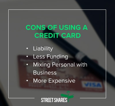 Using a credit card to fund your business good idea or bad pros of using a credit card reheart Images