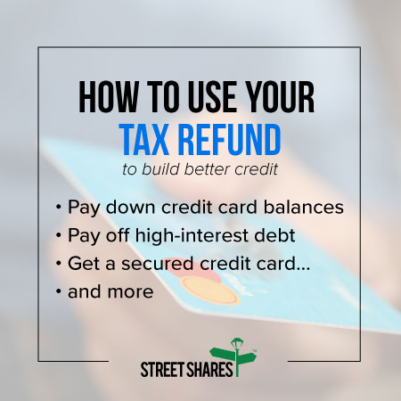 How to use your tax refund to build a better credit score
