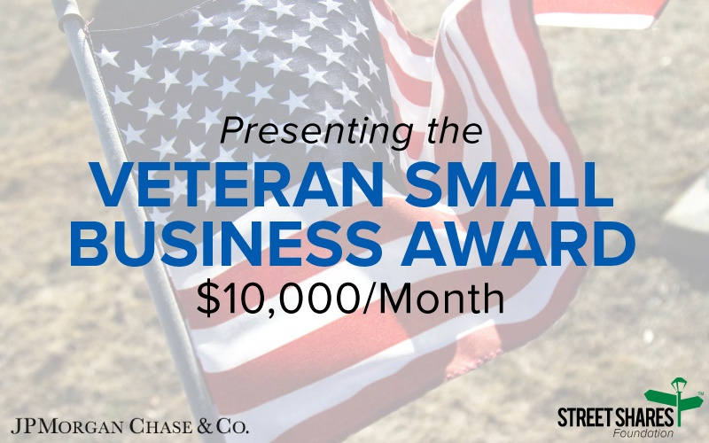 Presenting the Veteran Small Business Award, Up to $10,000