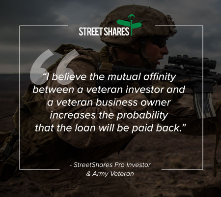 StreetShares Pro Investor and Army Veteran shares why he invests in StreetShares