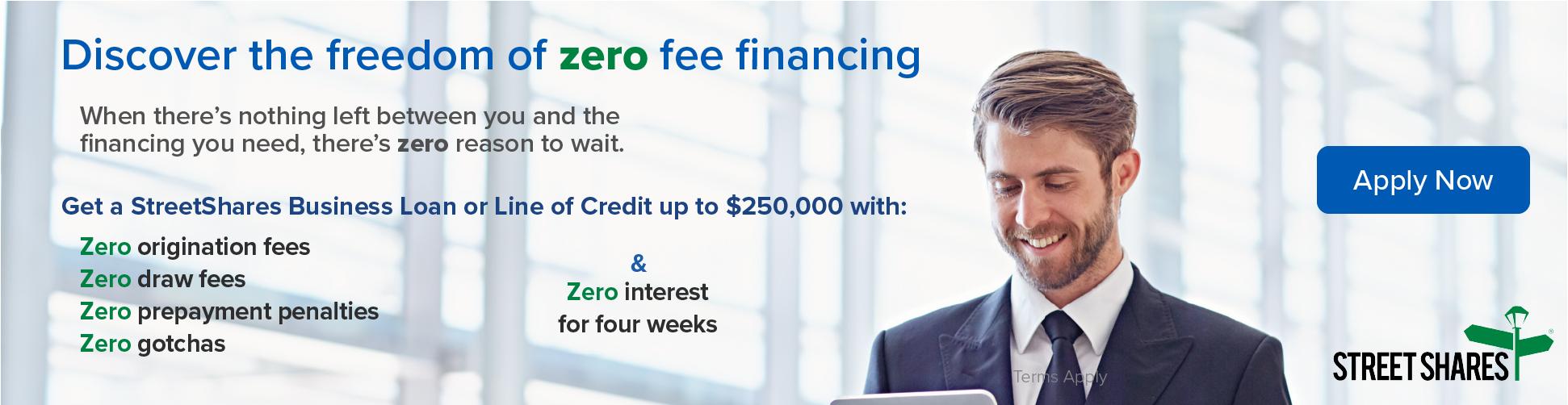 Zero Fee Financing Apply