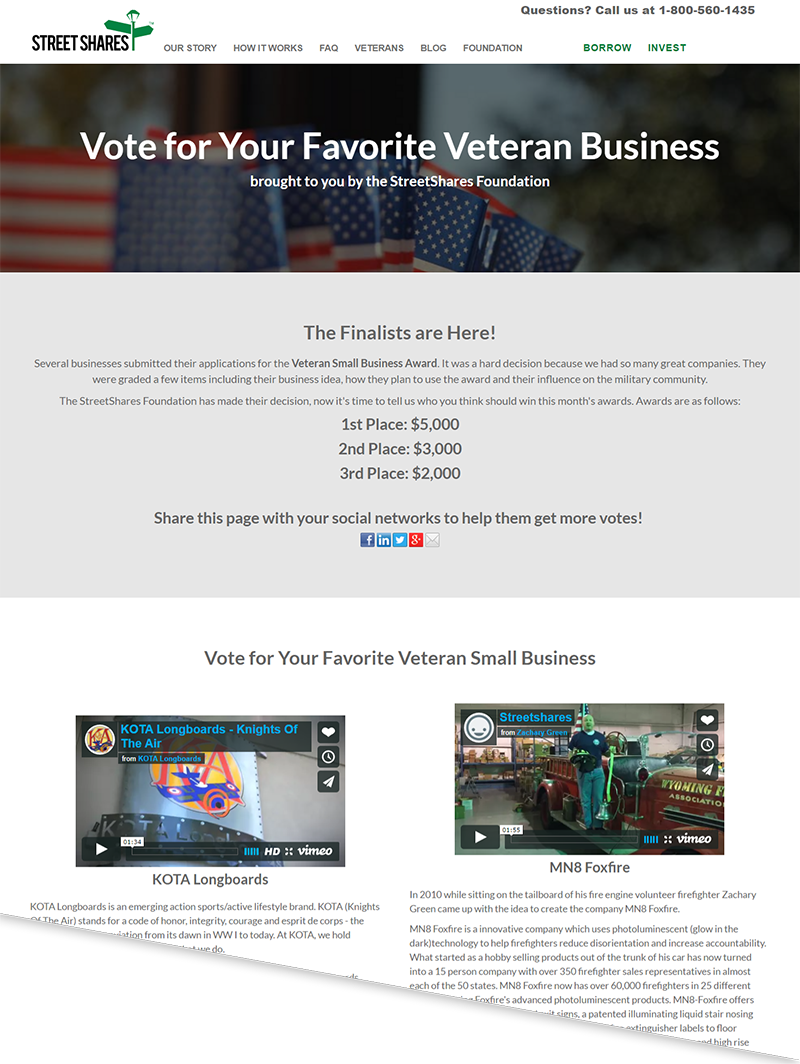 Veteran Small Business Award Finalists - Vote Now