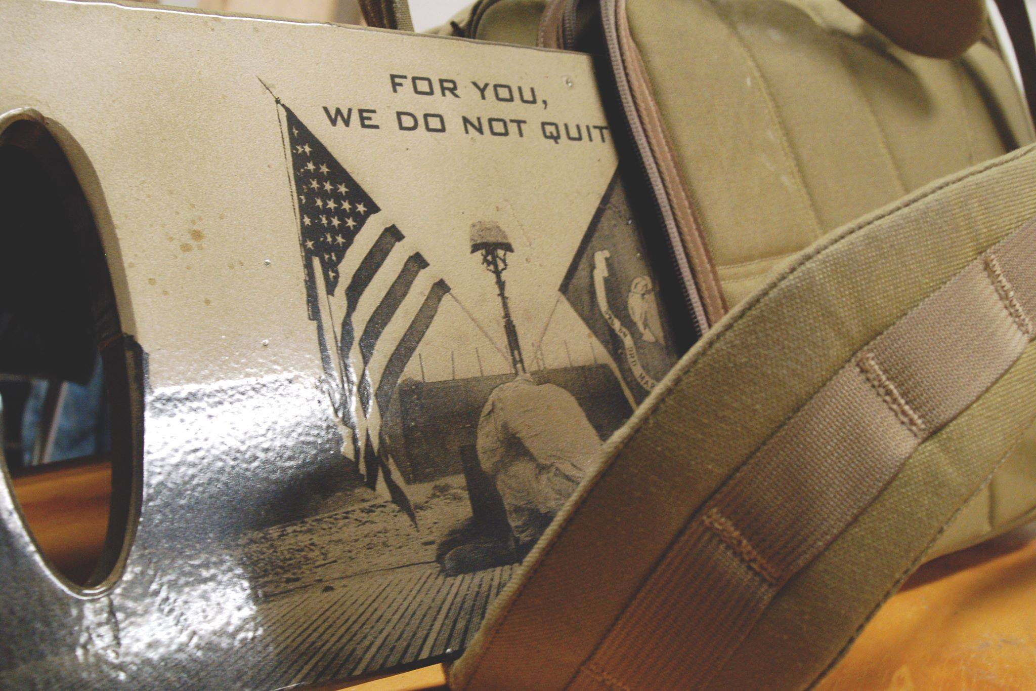 SHplates customized image on steel ruck plates