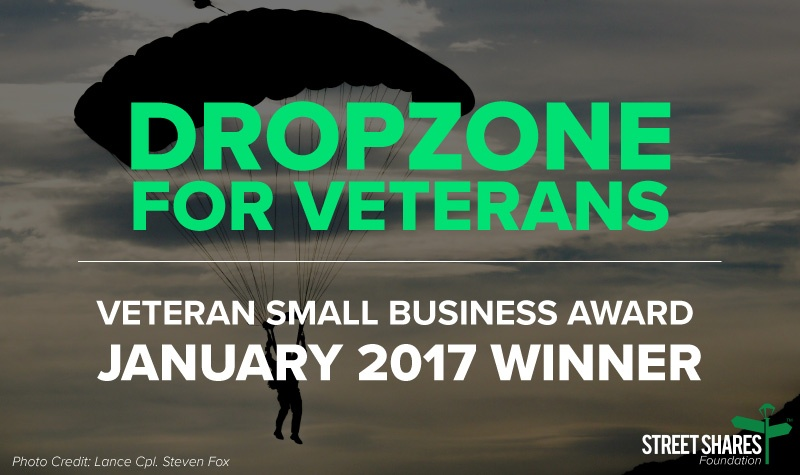 DropZone For Veterans - Veteran Small Business Award - January 2017 Winner