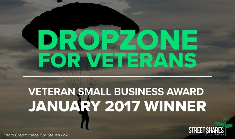 DropZone For Veterans - Veteran Small Business Award - January 2017 Winner