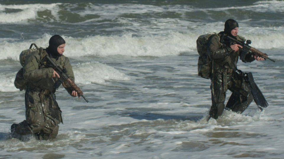 Navy SEAL Sean Matson in training.