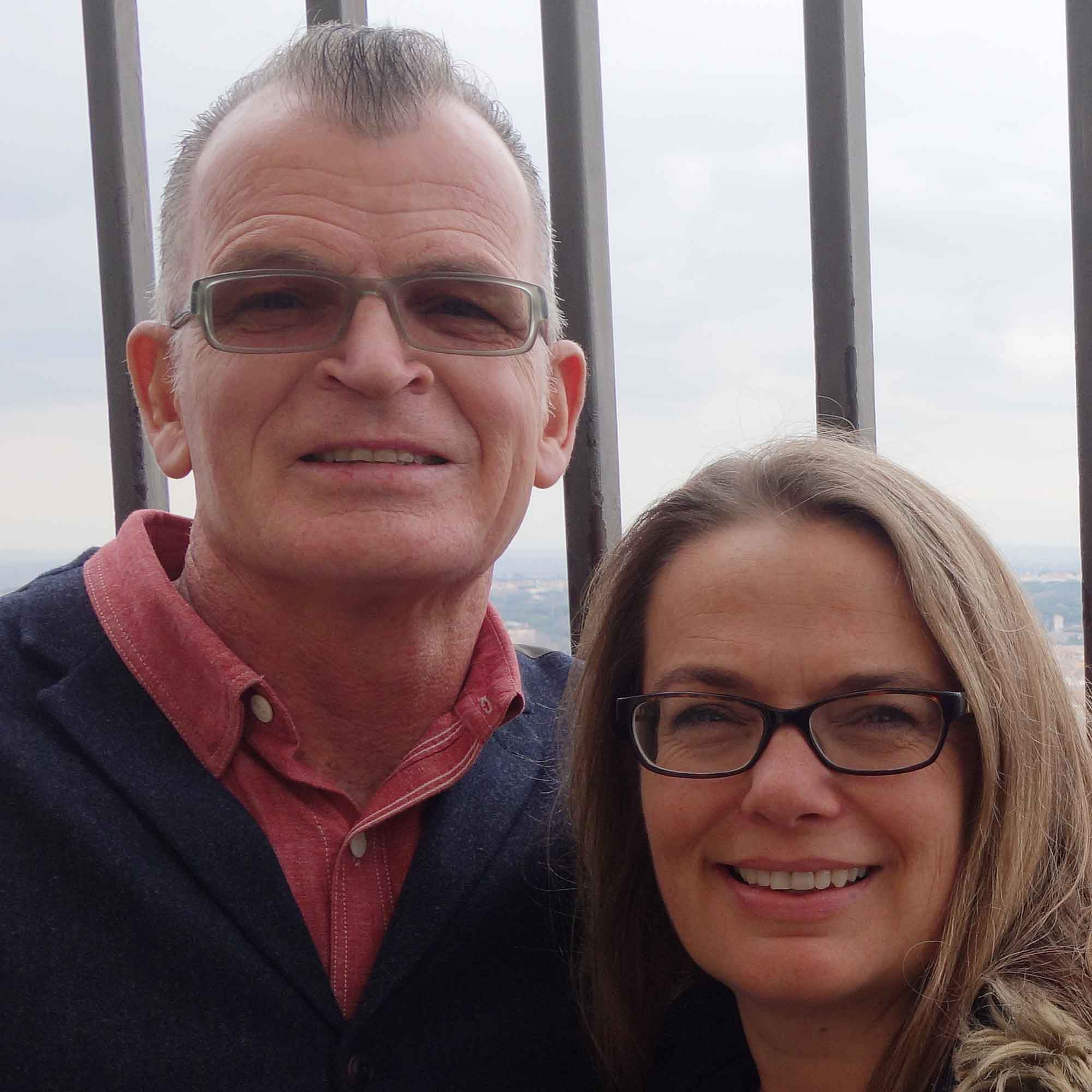 Chris and Cathy Dyer, Marine Corps Veteran and Military Spouse Business Owner, co-owners of Grunts Frozen Yogurt