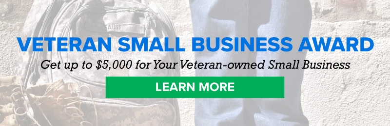 Veteran Small Business Award, get up to $5,000 for your VOSB, Learn More