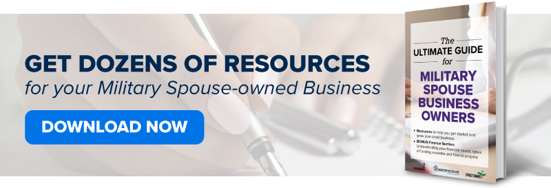 Get dozens of resources in the Ultimate Guide for Military Spouse Business Owners