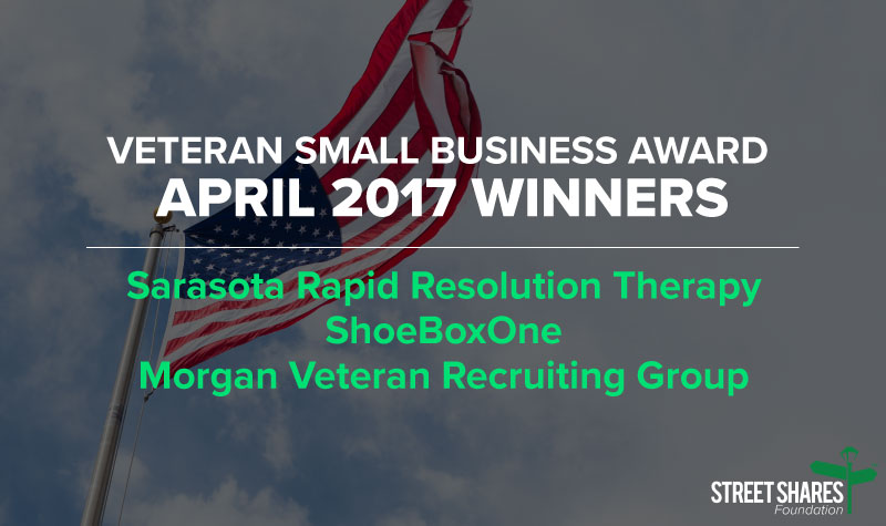 April Veteran business grant winners