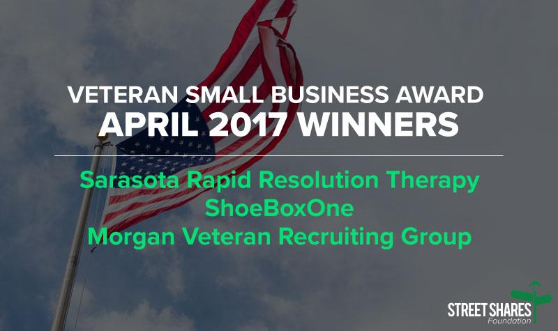 April Veteran business grant winners