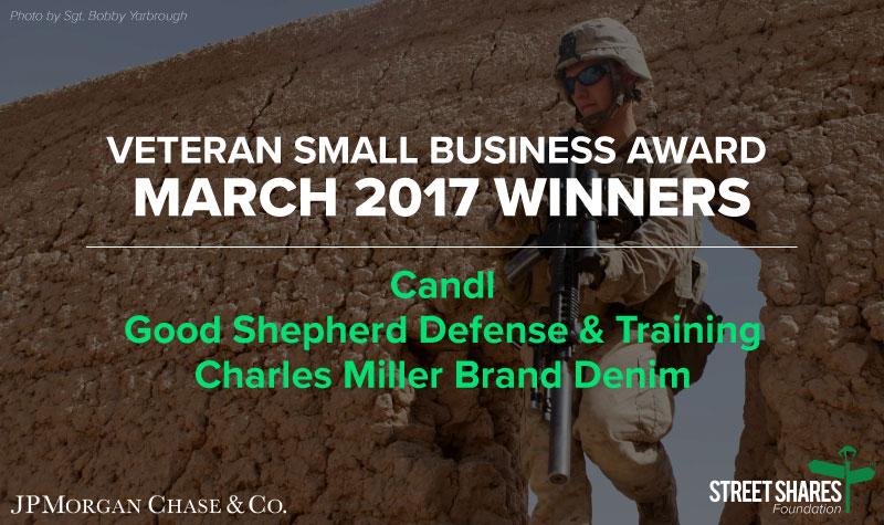March Veteran Small Business Award Winners