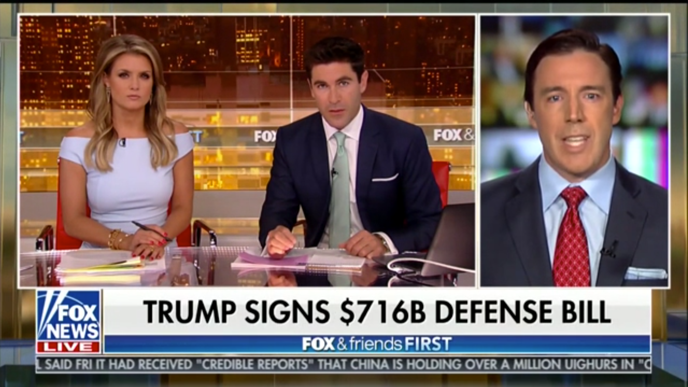 Mark L. Rockefeller on Fox News discussing the National Defense Authorization Act of August 2018